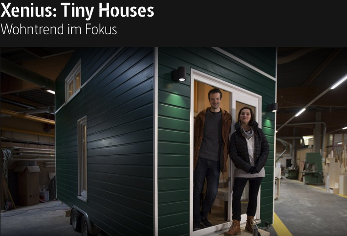 "Wortmann & Wember im TV auf arte: ""Xenius: Tiny Houses"""